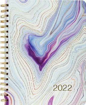 Blue Agate 2022 16-Month Desk Calendar (September 2021 - December 2022)