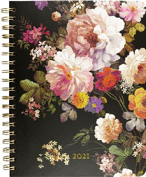 Midnight Floral Desk Calendar 2021