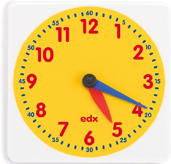 Student Clock Face with Movable Hands