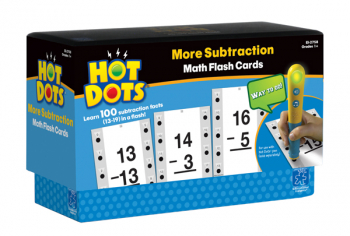 More Subtraction Hot Dots Flashcards