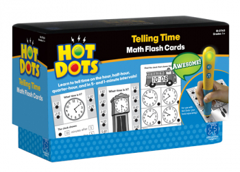 Telling Time Hot Dots Flashcards