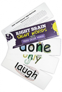 Right Brain DOLCH Sight Word Cards: Third Grade