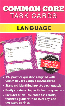 Common Core Language Task Cards Grade 4