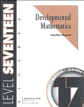 Developmental Math Level 17 Solution Manual