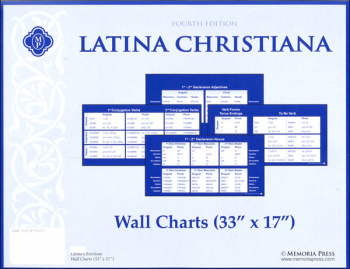 "Latina Christiana Wall Charts (33"" x 17"") Fourth Edition"