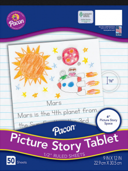 "Multi-Program Picture Story Paper (Ruled Short) 9"" x 12"""
