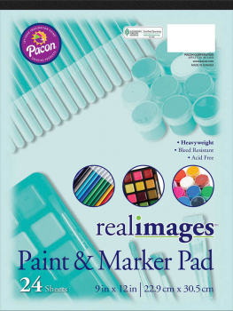 "Real Images Paint & Maker Pad (9"" x 12"") 24 sheets"