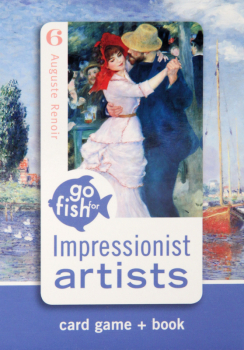 Go Fish for Impressionists Artists Game+Book