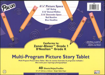 Multi-Program Picture Story Tablet - Conforms to Zaner-Bloser Grade 1, D'Nealian Grade K (40 Sheets)