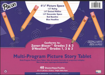 Multi-Program Picture Story Tablet - Conforms to Zaner-Bloser Grades 2-3, D'Nealian Grades 1-3 (40 Sheets)