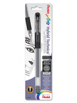 Pentel Hybrid Technica Pigment Ink Pen - Black (0.4mm)