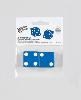 "Blue Dice - 25mm (1"") One Pair"