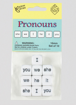 Pronoun Dice (Set of 10)
