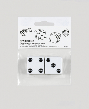 "White Dice - 25mm (1"")  One Pair"