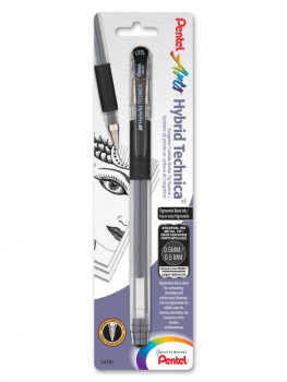 Pentel Hybrid Technica Pigment Ink Pen - Black (0.5mm)