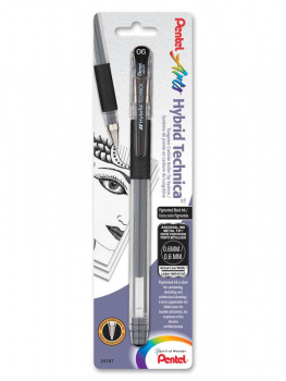Pentel Hybrid Technica Pigment Ink Pen - Black (0.6mm)