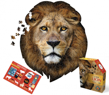 I AM Lion Shaped Jigsaw Puzzle  - 550 pieces