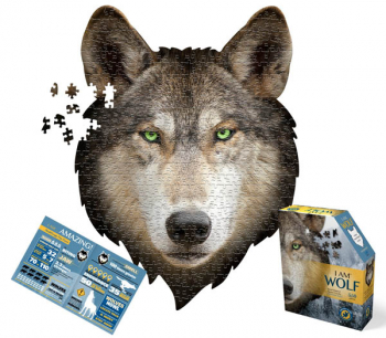 I AM Wolf Shaped Jigsaw Puzzle - 550 pieces
