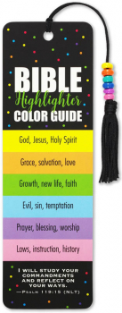 Bible Color Guide Beaded Bookmark
