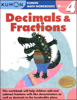 Decimals & Fractions Grade 4 Workbook
