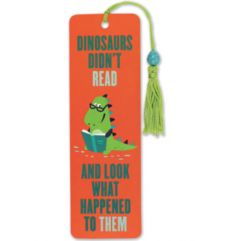 Dinosaurs Didn't Read Beaded Bookmark