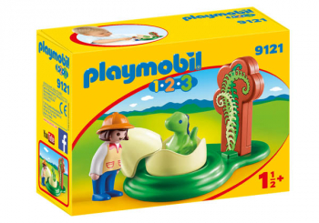 Girl with Dino Egg (Playmobil 1-2-3)