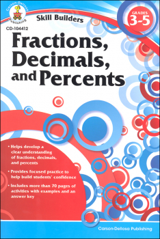 Fractions, Decimals, and Percents Grades 3-5 (Skill Builder)
