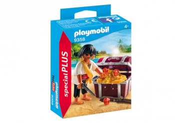 Pirate with Treasure Chest (Playmobil Special Plus)