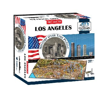 Los Angeles, USA 4D Cityscape Time Puzzle