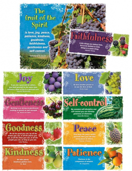 Fruit of the Spirit Bulletin Board Set (10 Pieces)