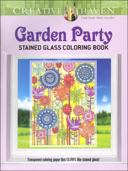 Garden Party Stained Glass Coloring Book