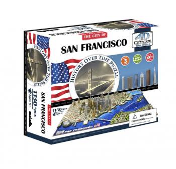 San Francisco, USA 4D Cityscape Time Puzzle
