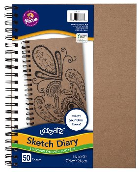 "Art1st Create Your Own Sketch Diary Natural Cover (11"" x 8 1/2"")"