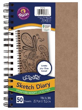 "uCreate Create Your Own Sketch Diary Natural Cover (9"" x 6"")"