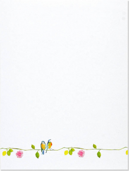 Watercolor Birds Stationery Set