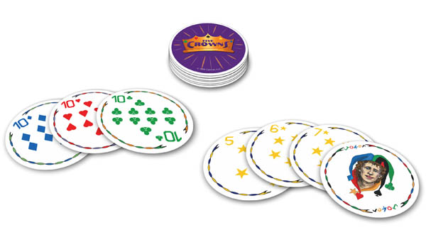 Five Crowns Card Game Mini Round Tin