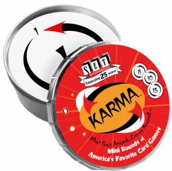 Karma Card Game Mini Round Tin