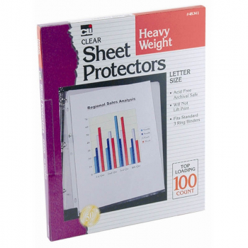 Sheet Protectors - Heavy Weight - Clear (100/Bx)