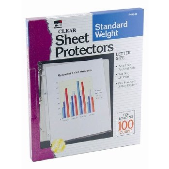 Sheet Protectors - Standard Weight - Clear (100/Bx)