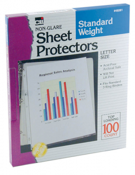 Sheet Protectors - Standard Weight/Non-Glare (100/Bx)