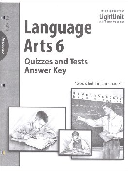 Language Arts LightUnit 601-610 Quizzes and Tests Answer Key Sunrise 2nd Edition