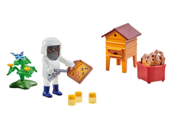 Beekeeper with Hive (Country)