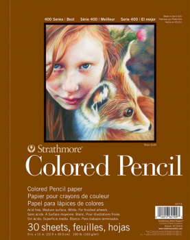 "Strathmore Colored Pencil Pad - 9"" x 12"" (30 sheets)"