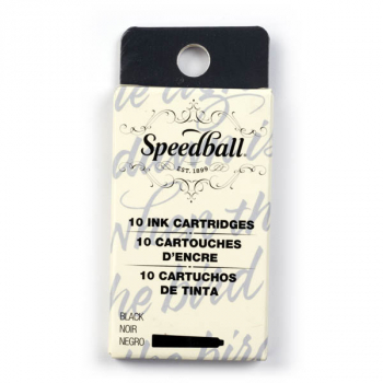 Speedball Calligraphy Fountain Pen Ink Cartridges Set - Black (10 pack)