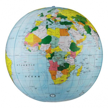 "12"" Political Inflatable Globe (Light Blue)"