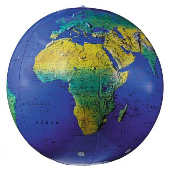 "12"" Topograph Inflatable Globe (Dark Blue)"