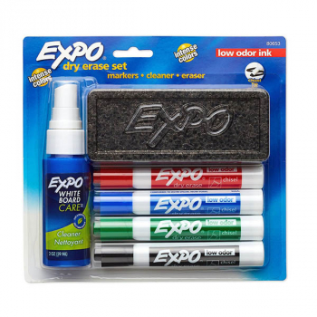 Expo Low Odor Chisel Tip Dry Erase Marker Set