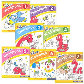 Jolly Phonics Workbooks 1-7 w/ Print Letters