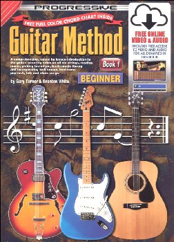 Progressive Guitar Method Book 1: Beginner with CD & DVD