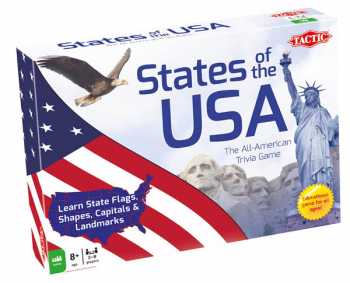 States of the USA Trivia Board Game